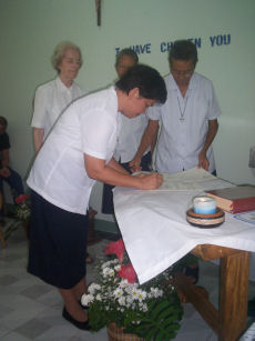 Signature de profession aux Philippines