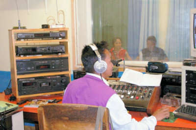 Studio d'enregistrement de la radio Haja