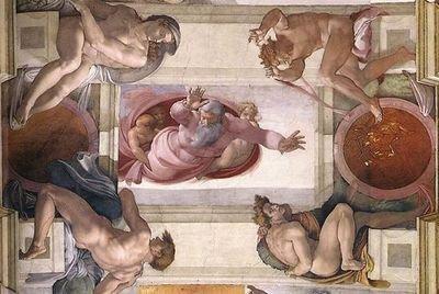 Que tes uvres sont belles seigneur tu nous combles de - Michel ange le plafond de la chapelle sixtine ...